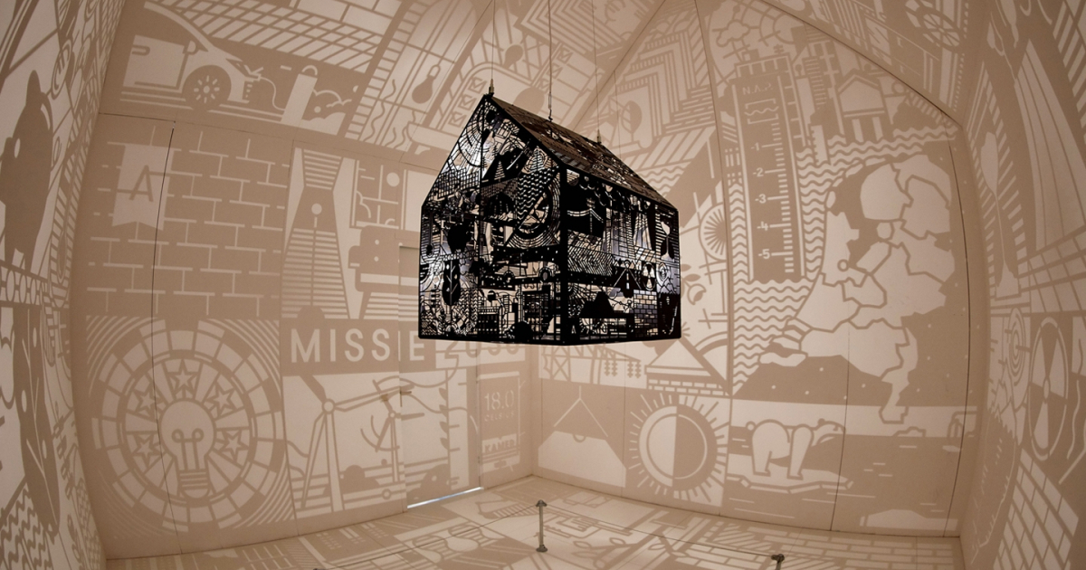Mission 2030: illustrated light installation
